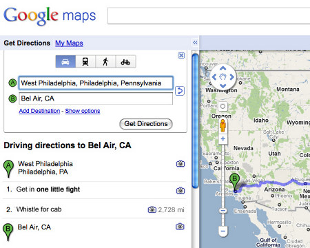 Google Maps Get Fight Whistle Bel Air